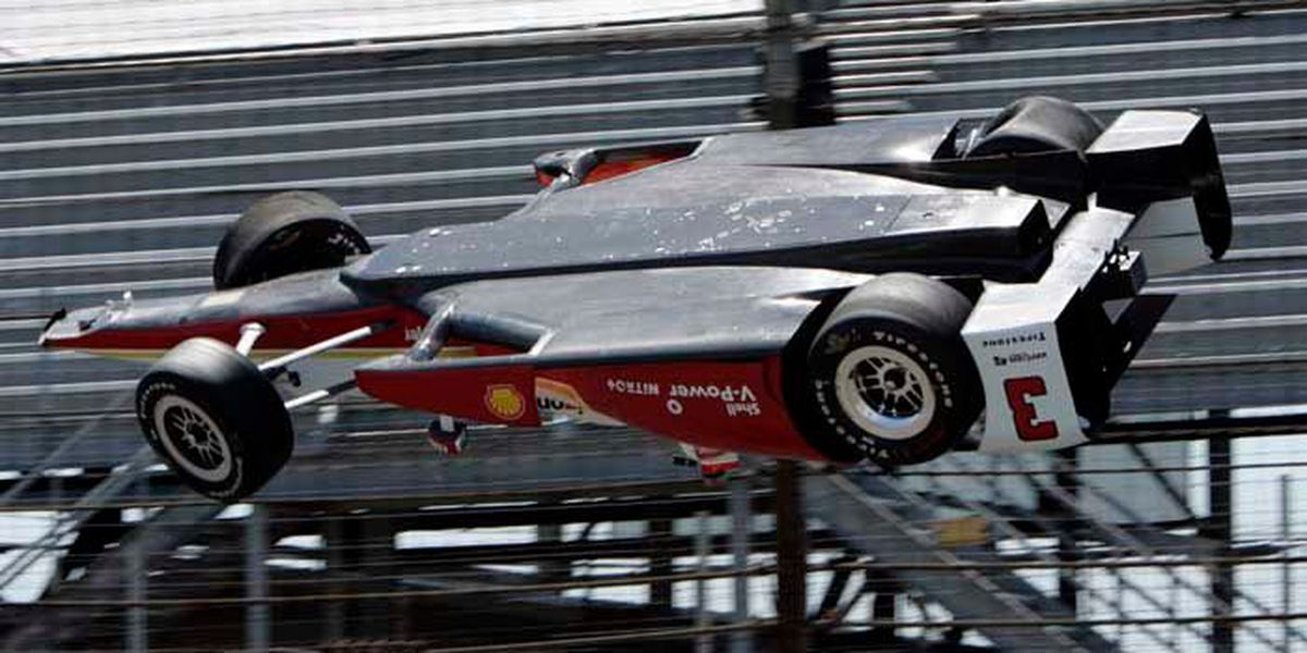 Indy car driver flips car, walks away from crash