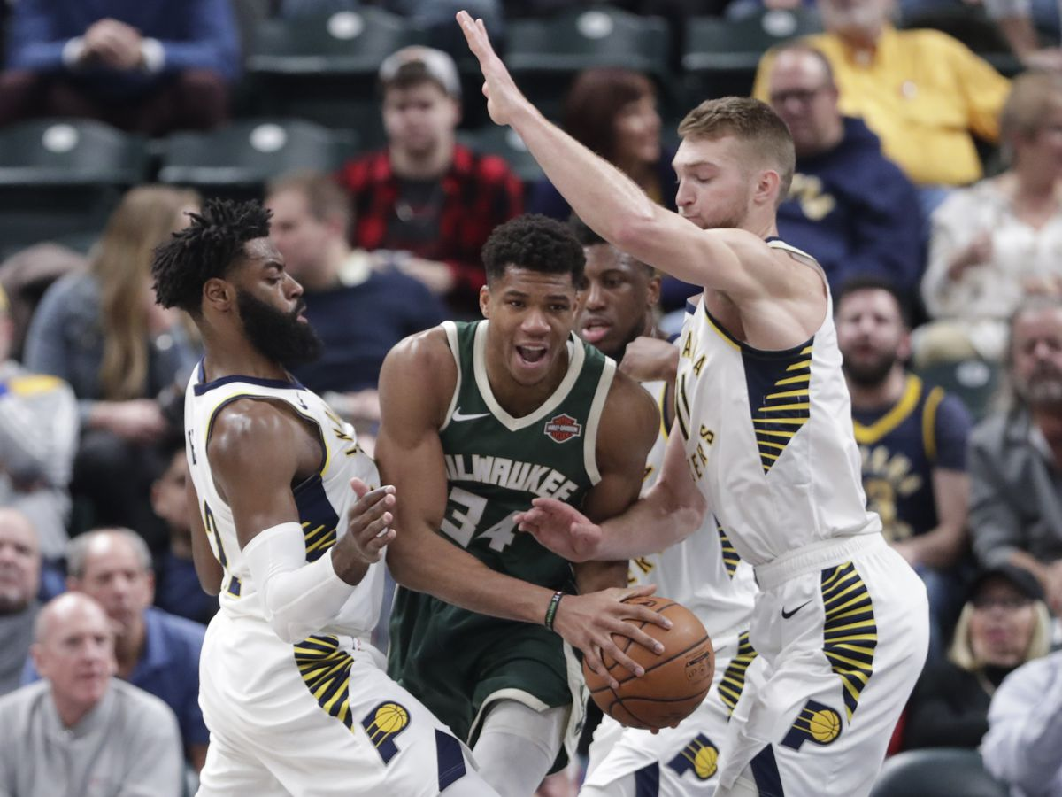 Pacers win 5th straight by pulling away from Bucks 113-97