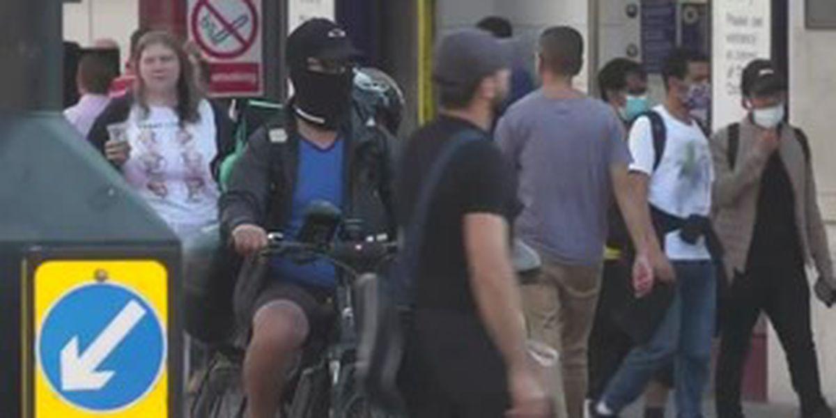 UK raises virus alert level, warning of high transmission