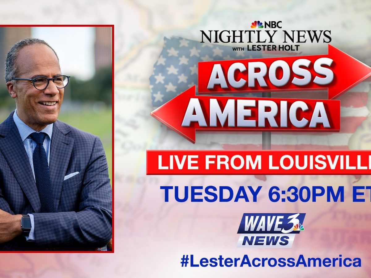 Lester Holt to host 'Nightly News' from Louisville next week