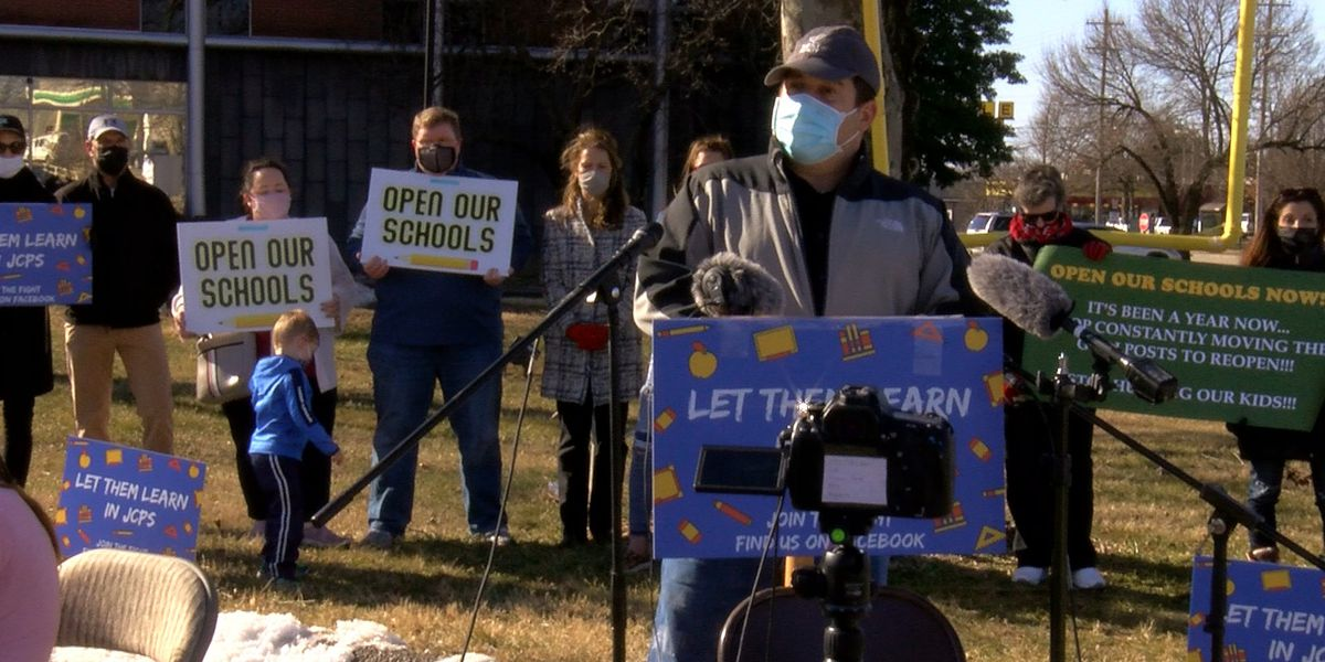 JCPS parents hold 'Let Them Learn' rally aimed at reopening schools
