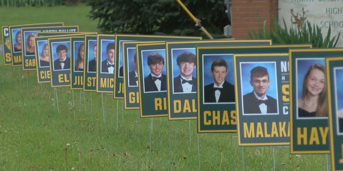 North Bullitt High School seniors honored on their front lawns
