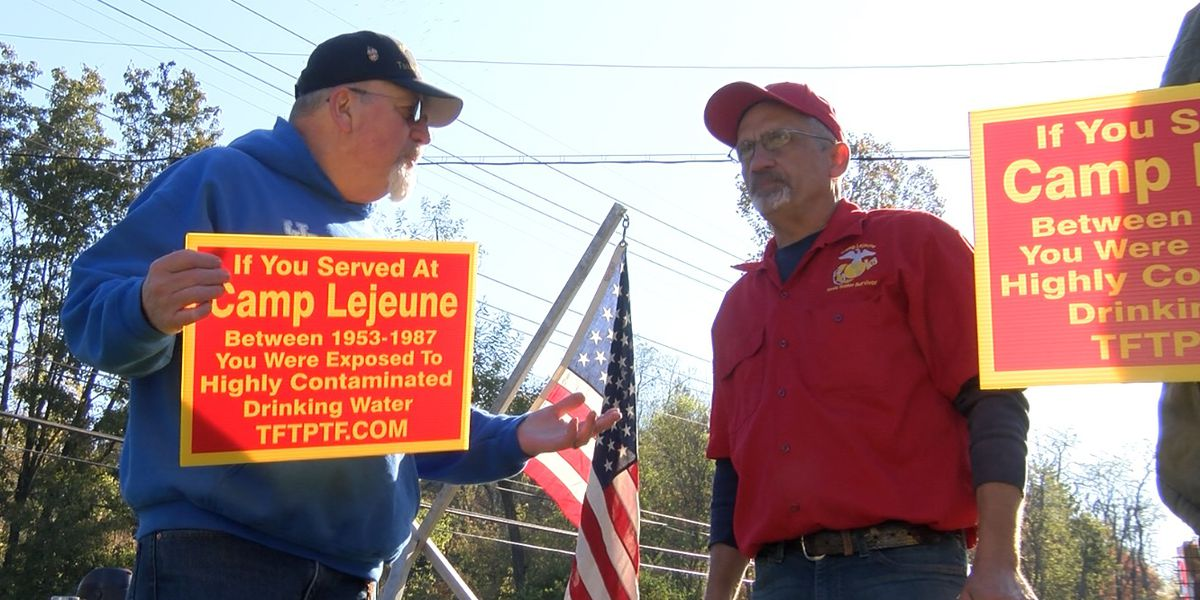 Veterans protest at Louisville VA over contaminated water at Camp Lejeune