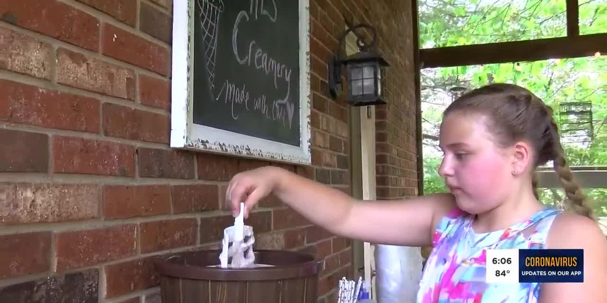 11-year-old entrepreneur raises funds for the community serving ice cream