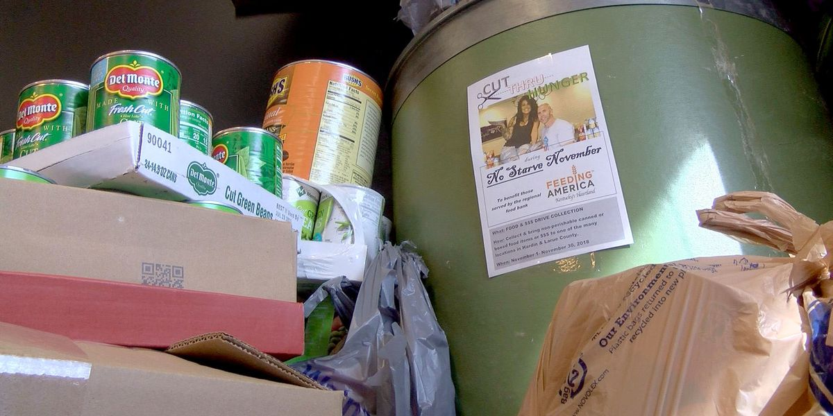 Etown barber shop, salon face off to collect donations for hungry