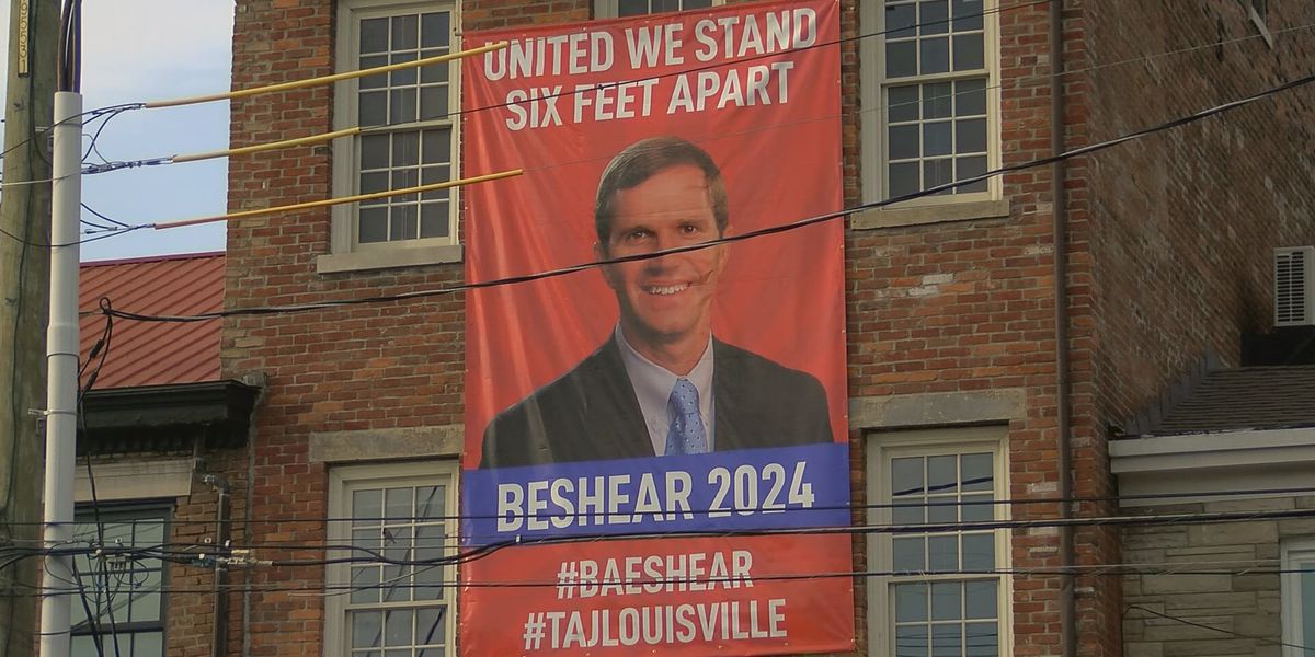 'United we stand - six feet apart': Bar hangs banner backing Gov. Beshear