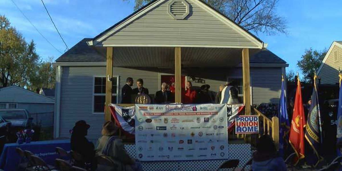 Local organizations gift once homeless Navy vet new home