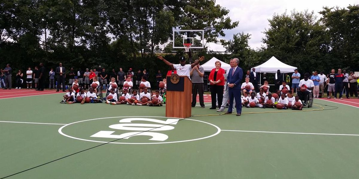 Bryson Tiller, Nike give new life to basketball courts at Wyandotte Park