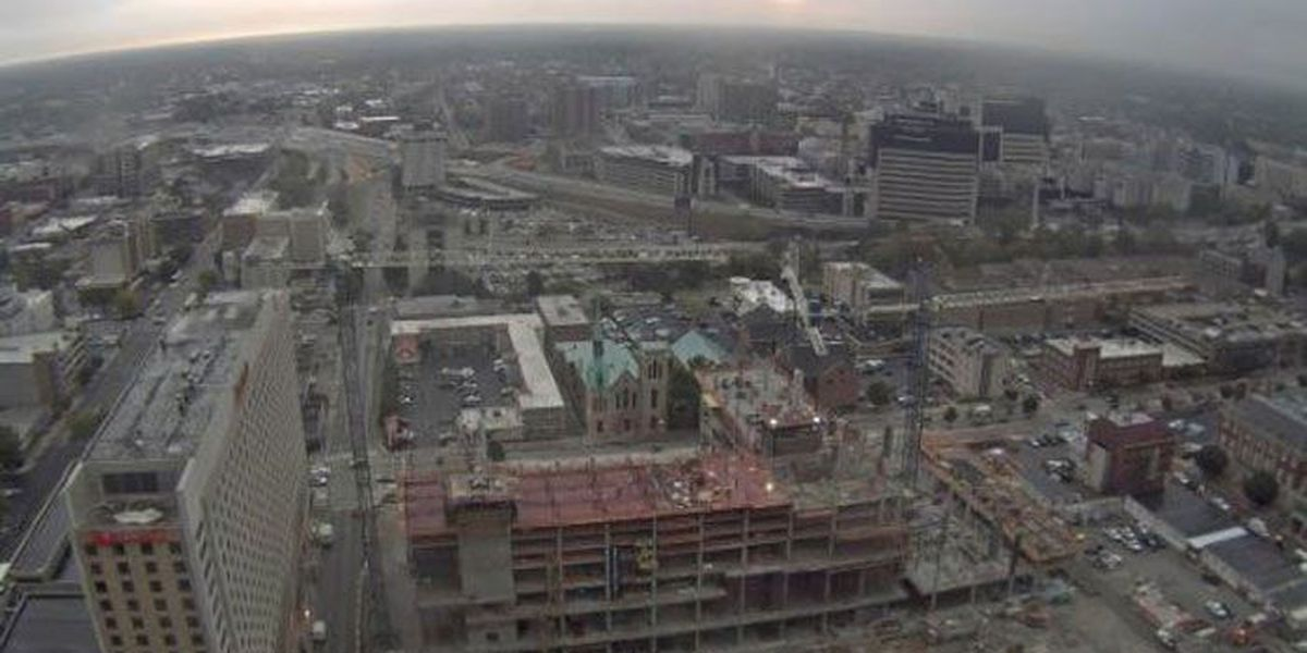 Omni Louisville Hotel construction continues