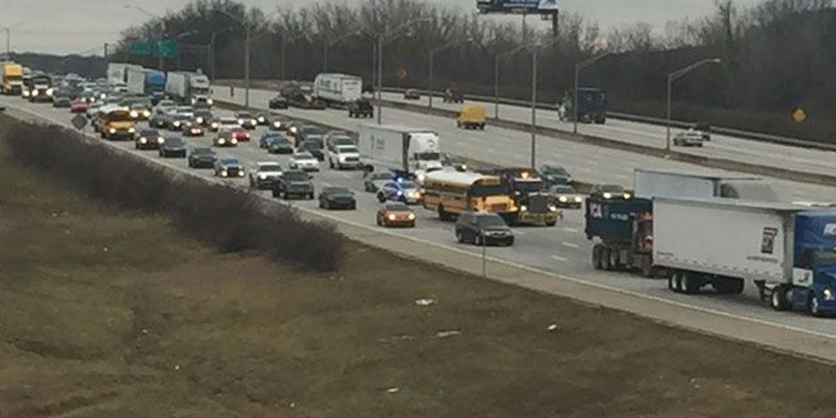 No injuries reported in crash between JCPS bus and semi on I-65