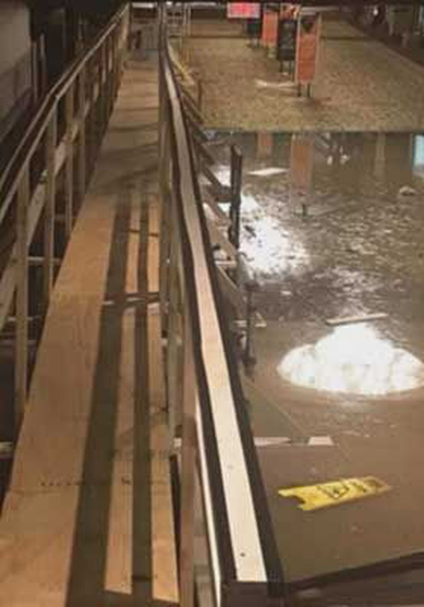 Look inside flooded Horseshoe Casino