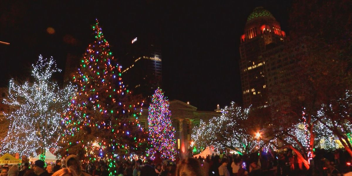 Thousands flock to downtown for Light Up Louisville