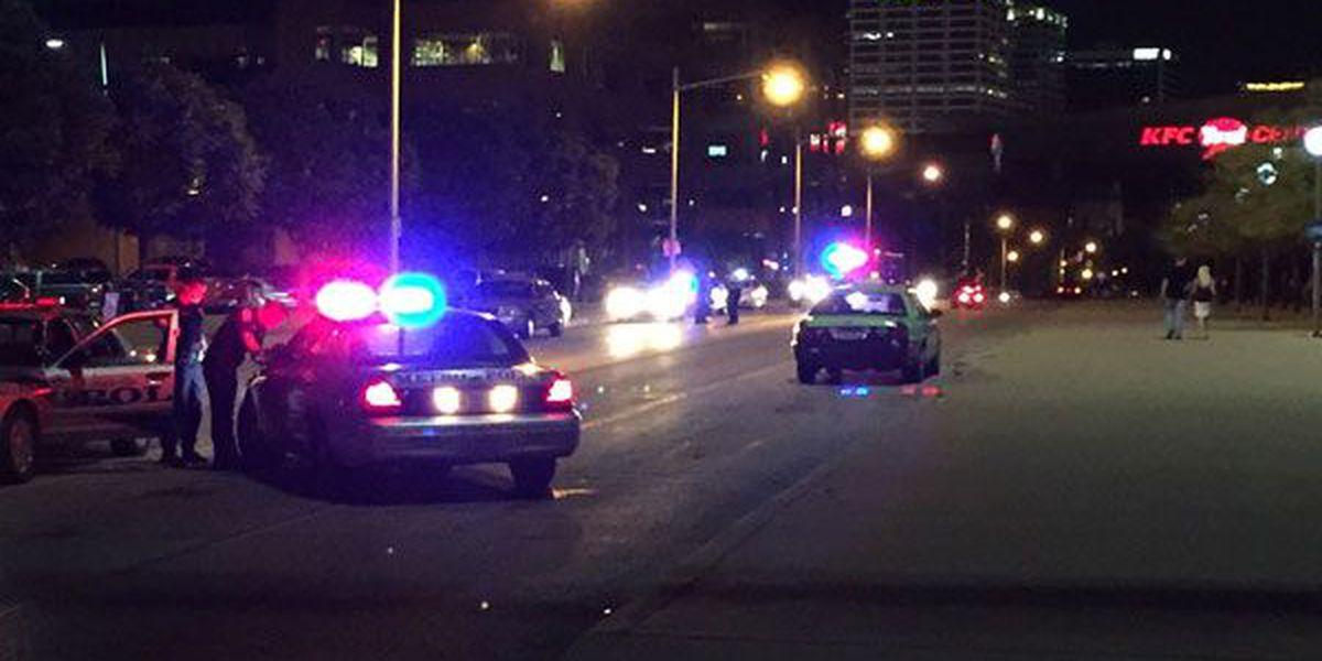 Pedestrian hit by taxi near Louisville Slugger Field
