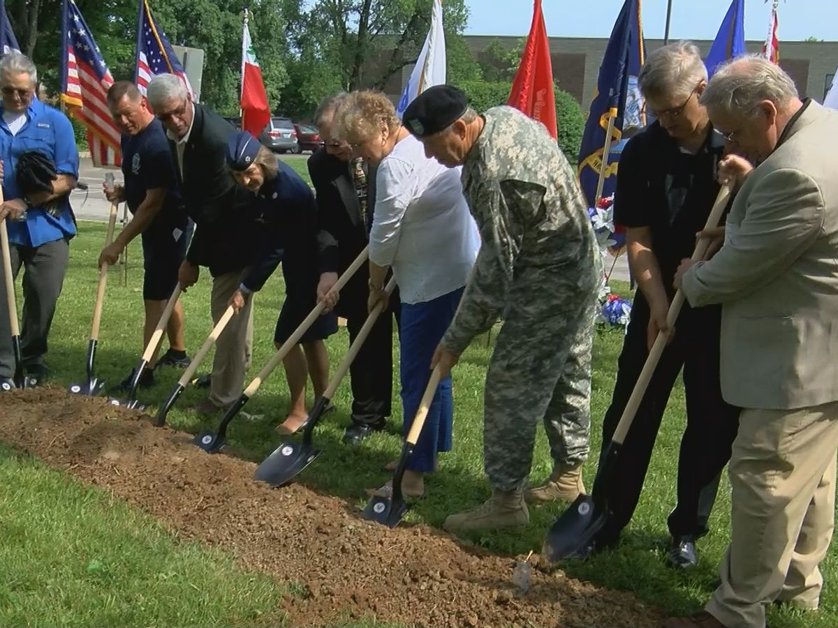 Groundbreaking held for Gold Star Families Monument at Veterans Memorial Park