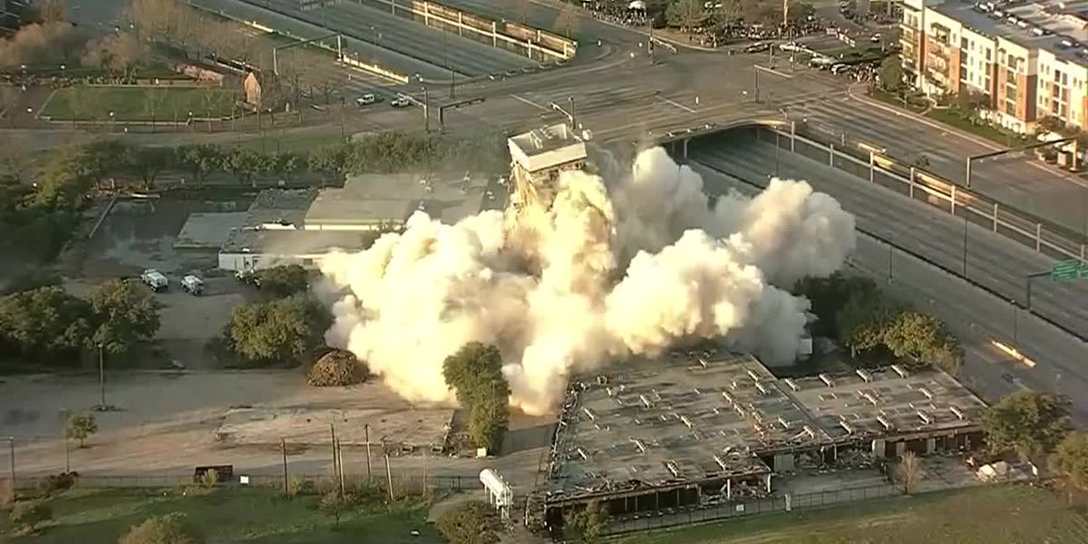 Oops! Implosion fails to topple tower in Dallas