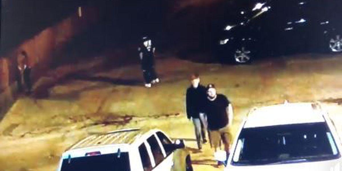 Graffiti suspects caught on camera outside Louisville bar