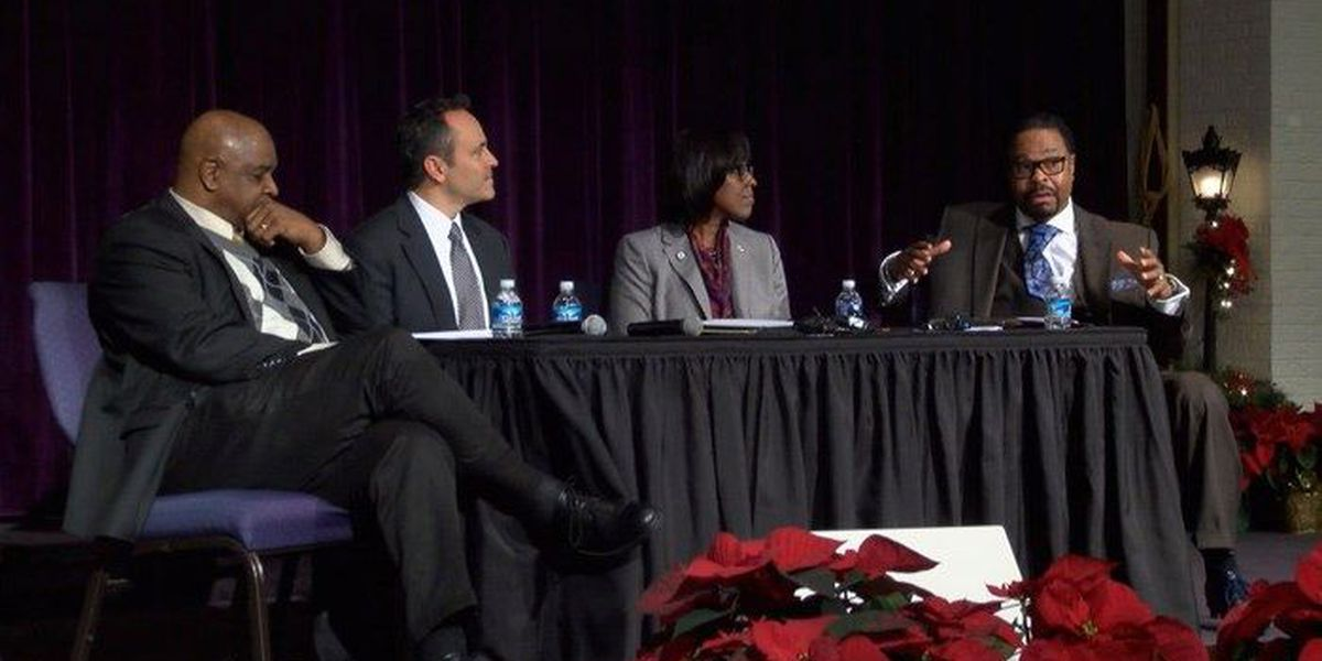 Bevin talks charter school with African-American preachers