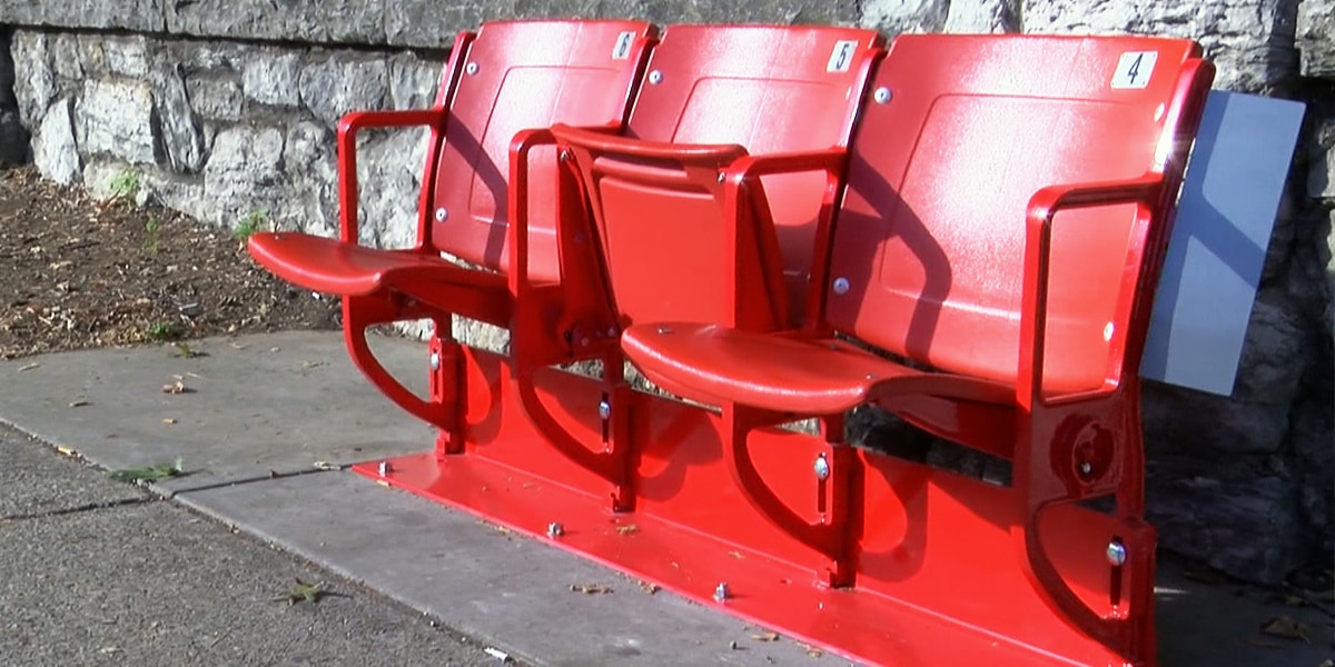More bus stop seats from the old Cardinal Stadium installed in the Highlands