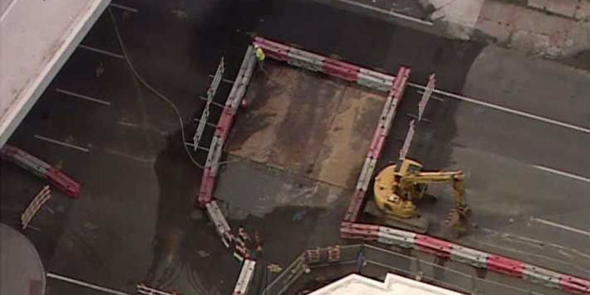 Downtown sewer collapse needs weeks of more repairs
