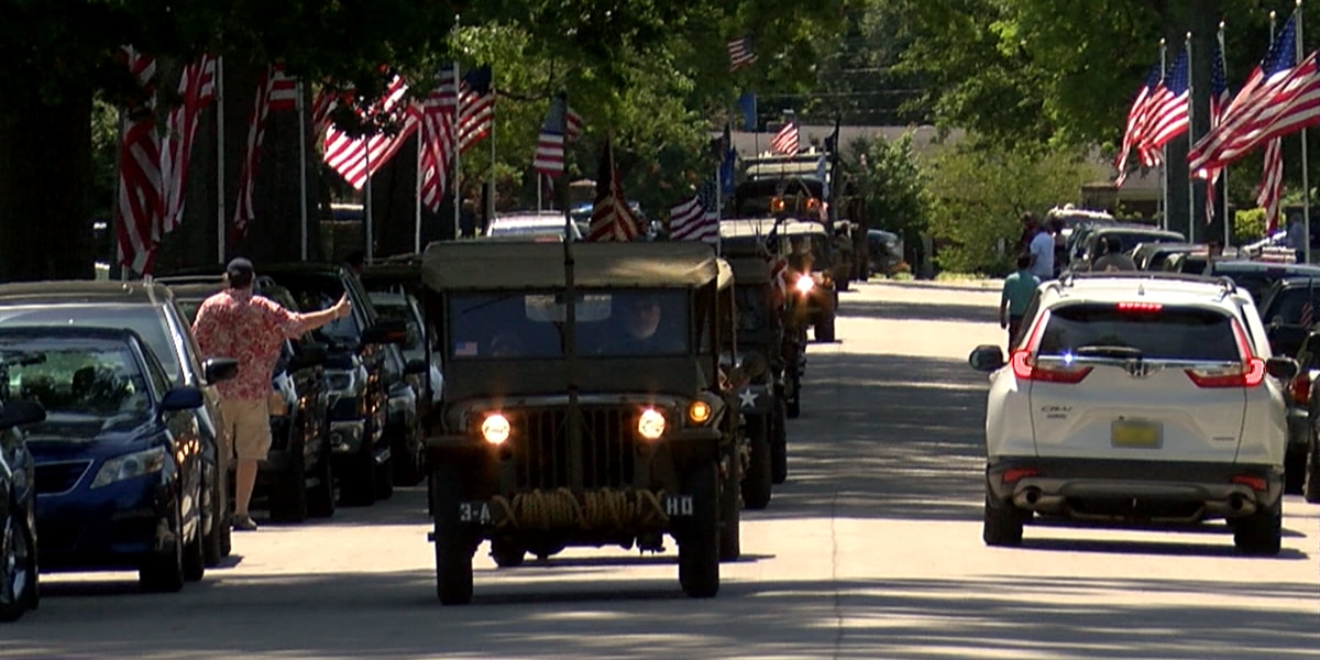 Military vehicle convoy honors veterans at Zachary Taylor National Cemetery