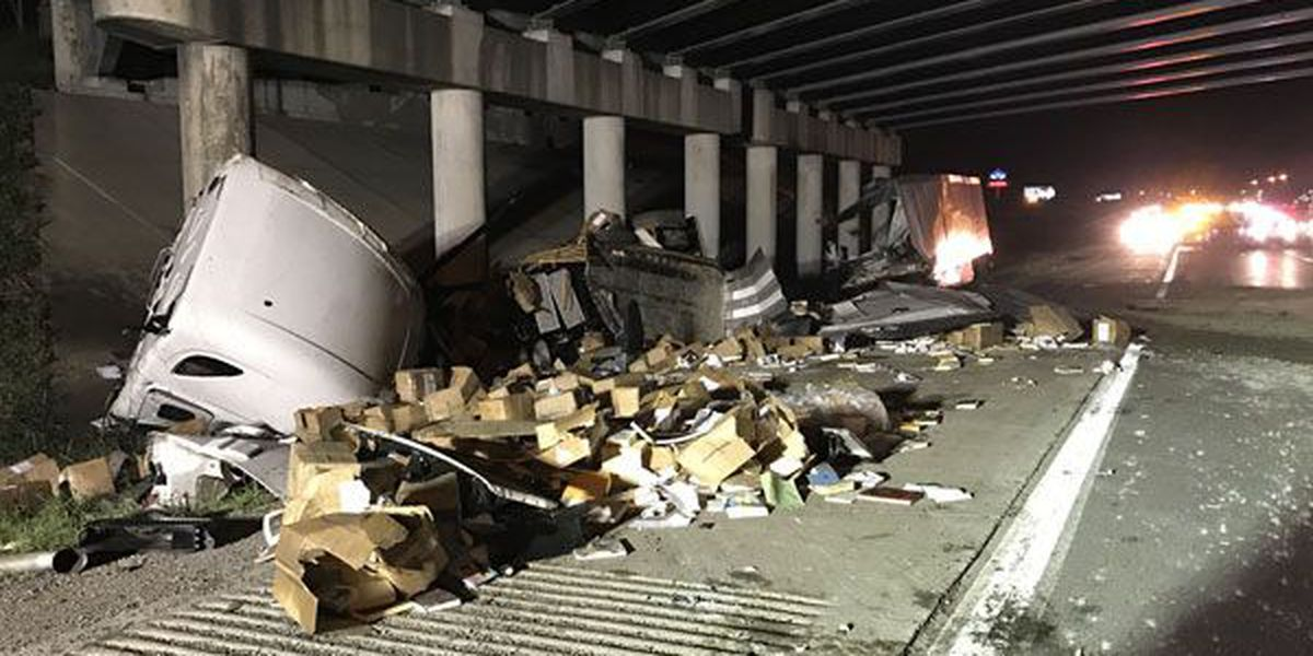 KSP: Semi driver claims to be kidnapped, crashes truck on I-65