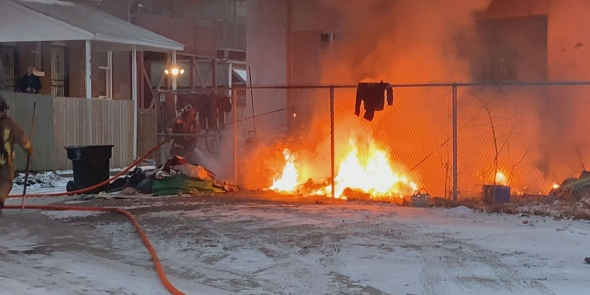 No victim found following fire at homeless camp in downtown Louisville