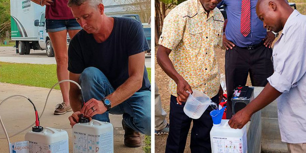 From Louisville to Africa: Local non-profit fights spread of COVID with sanitizer tool