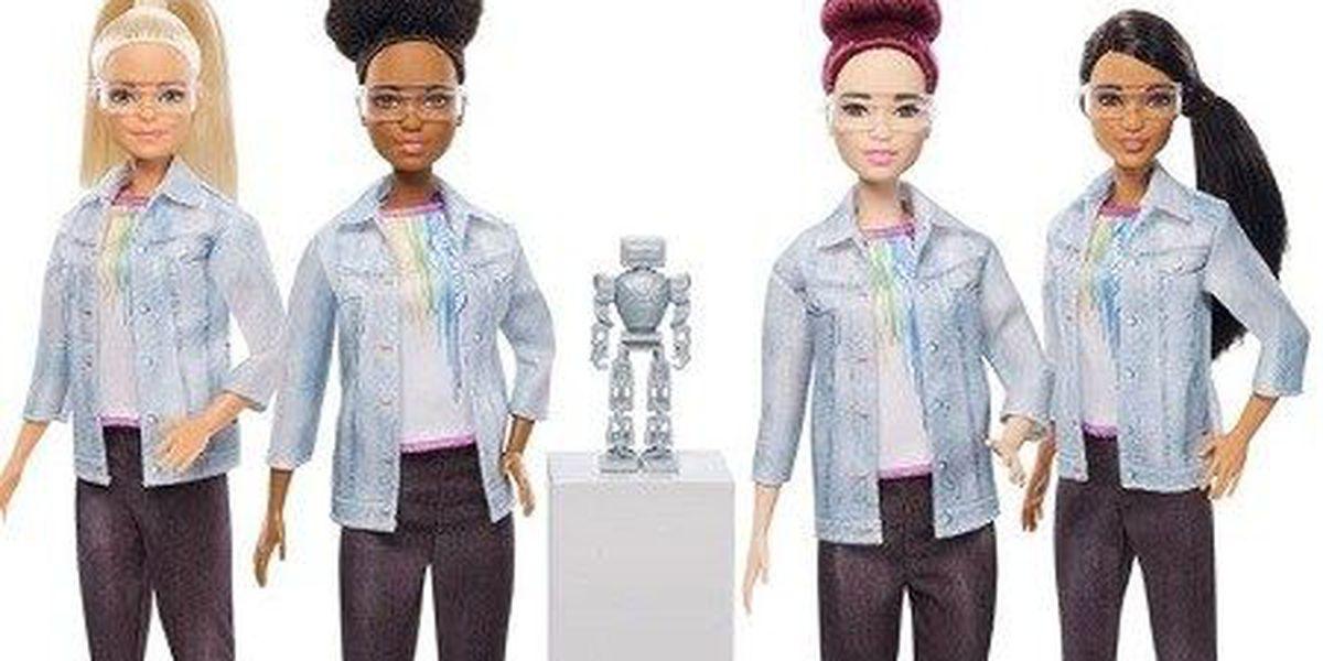 Barbie has a new career building robots