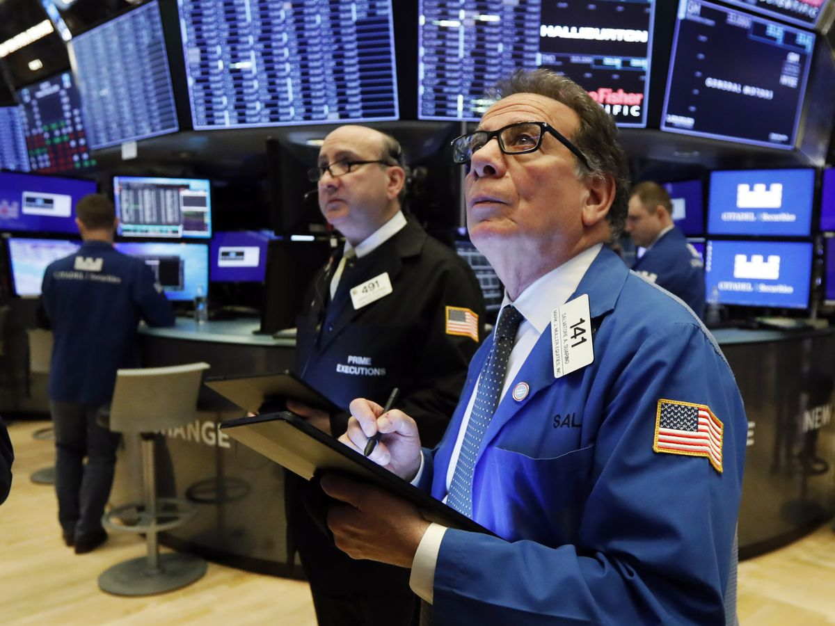 Stocks sink again on Wall Street, head for worst week since 2008