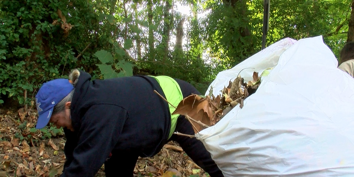 Volunteers help the budget gap by cleaning up community