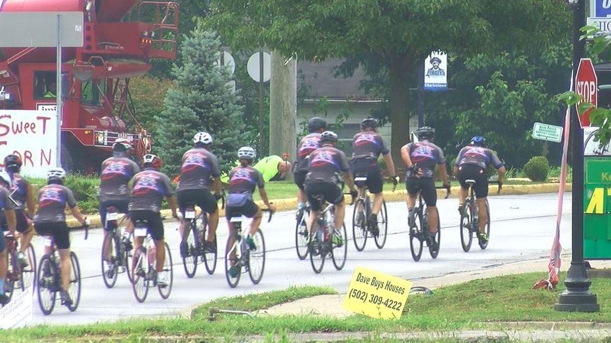 Cop Cyclists pedal their way through Indiana, honoring memory of fallen Charlestown officer