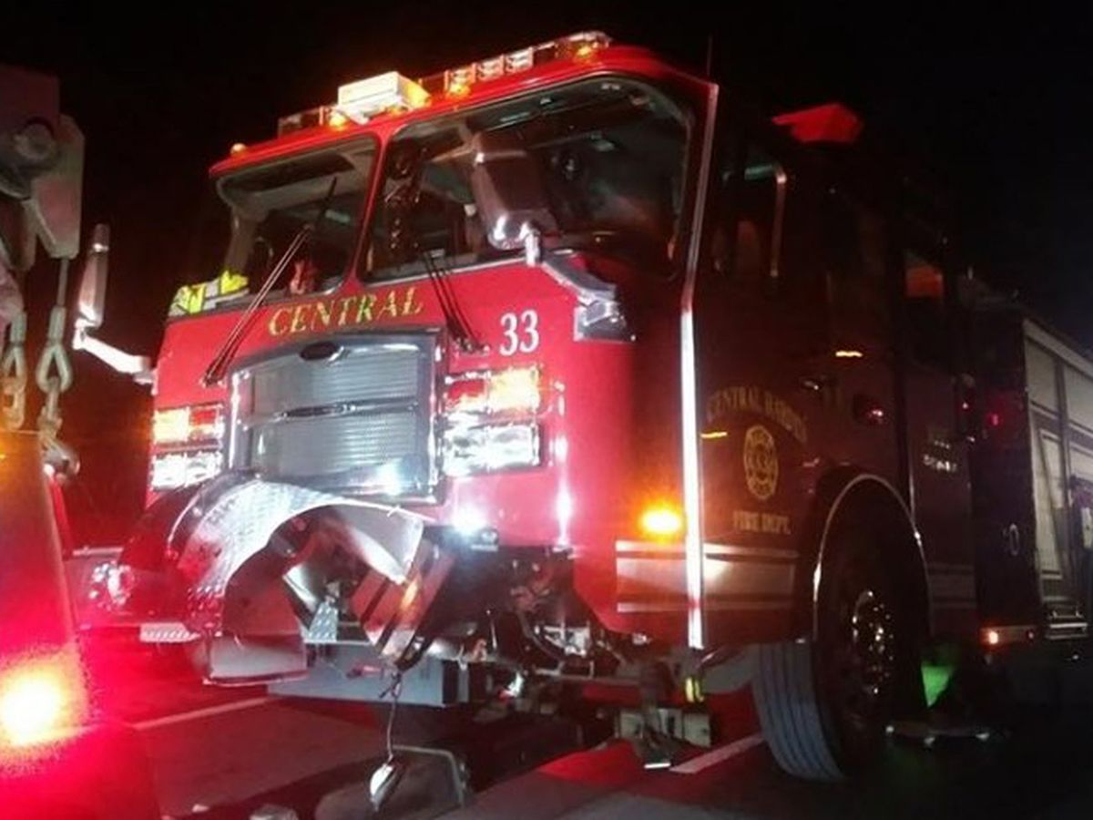 Fire department reminds drivers to move over after engine is hit