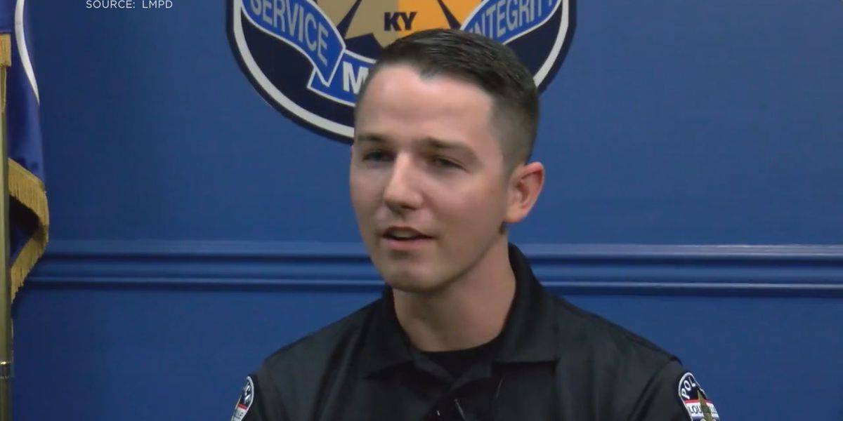 LMPD officer helps rescue victim of head-on crash