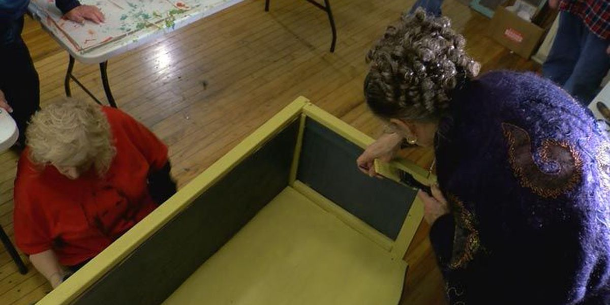 Group restores, transforms old furniture to help local kids in need
