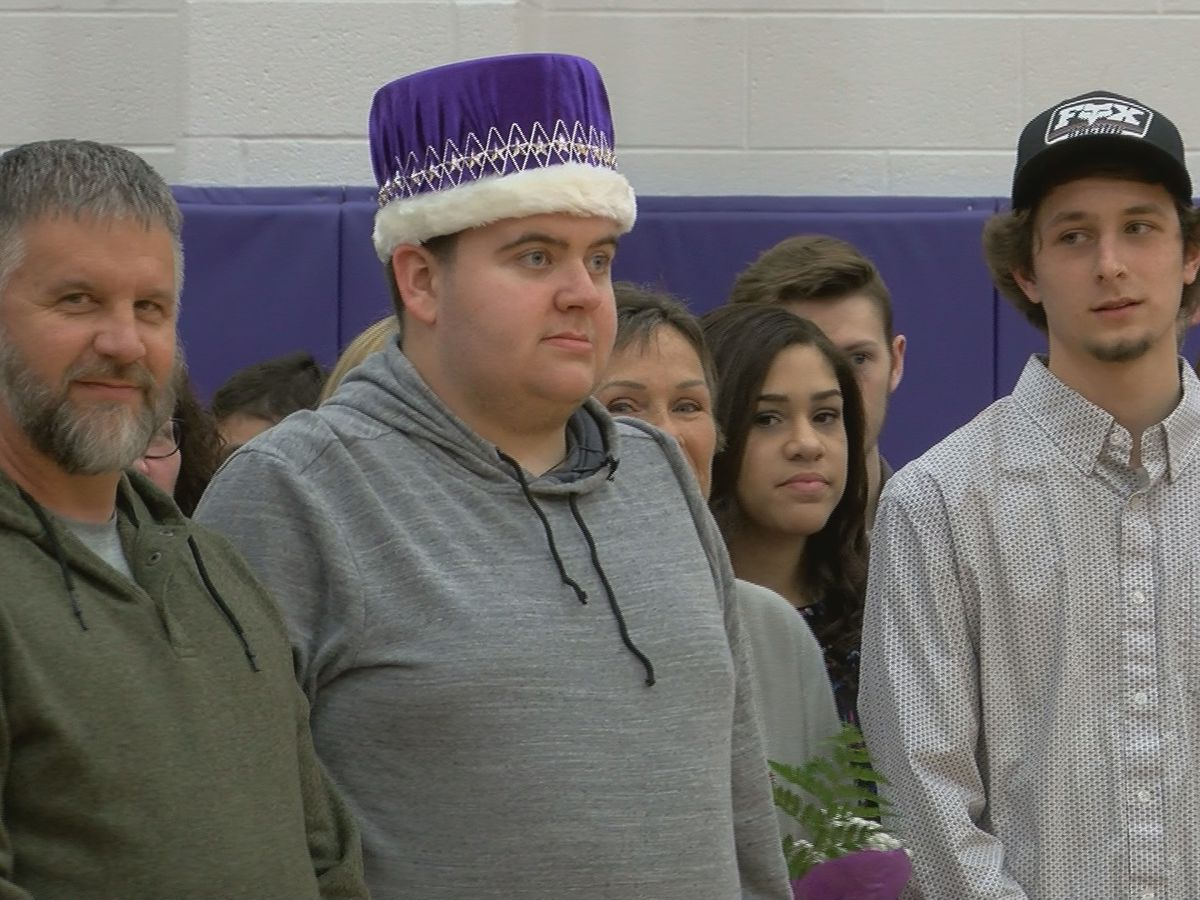 POSITIVELY WAVE: Students crown classmate with autism homecoming king