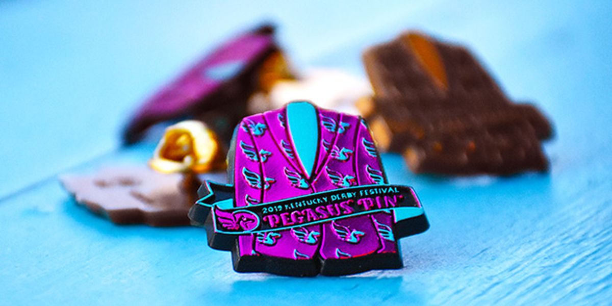 2019 Pegasus Pin design replicates Derby Festival official uniform jacket