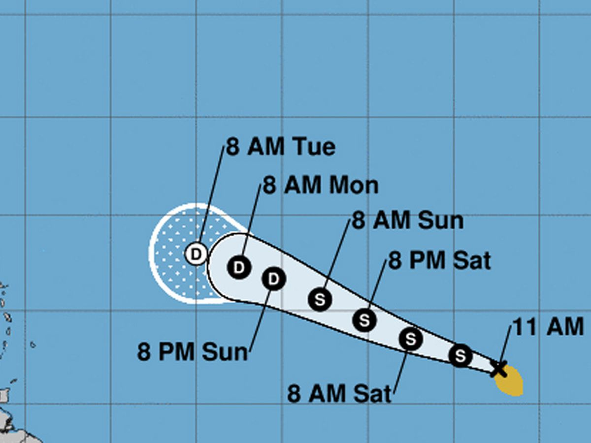 Tropical Storm Wilfred forms in the eastern Atlantic