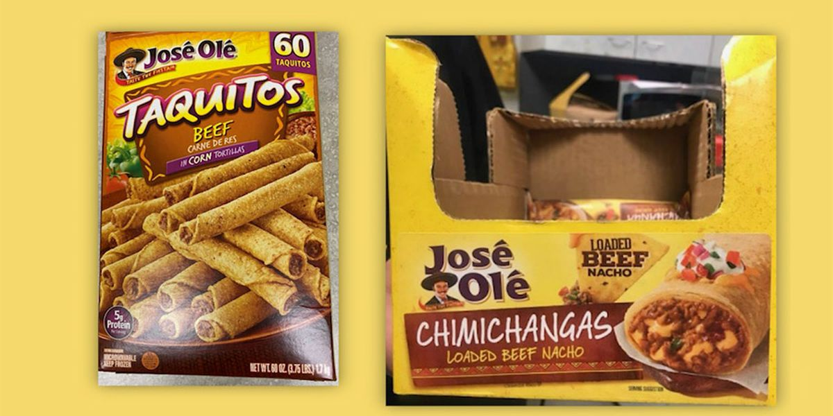 Recall: Taquitos and chimichangas may have plastic in them