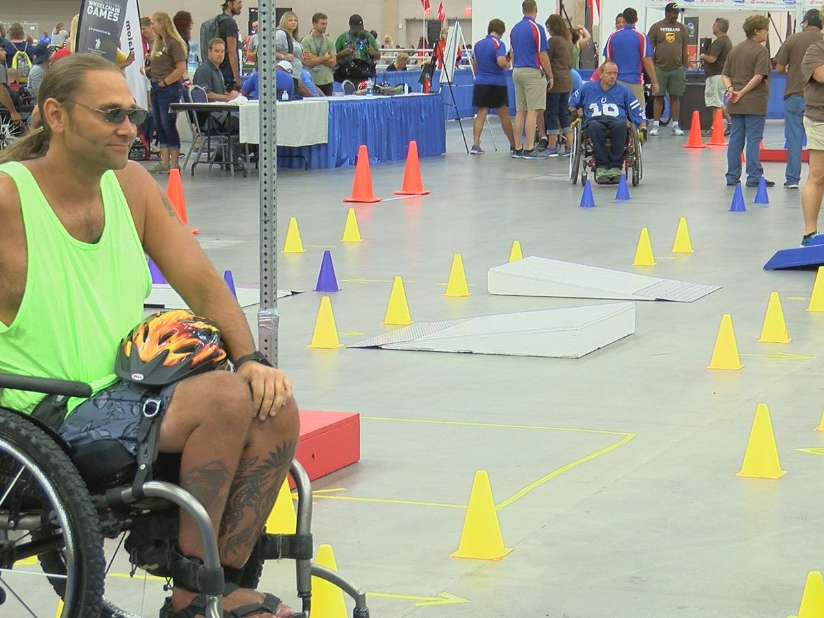 Veterans compete in rugby, slalom races for National Wheelchair Games in Louisville