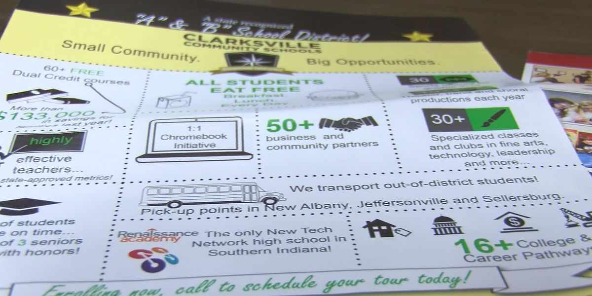 Clarksville Community Schools sends ads to draw in students to district
