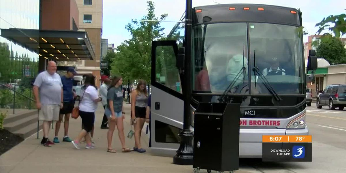 With SkillsUSA, Louisville Tourism said guests in town are in about 50 area hotels