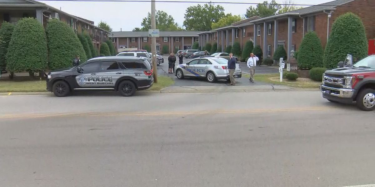 LMPD respond to double shooting off Goldsmith Lane