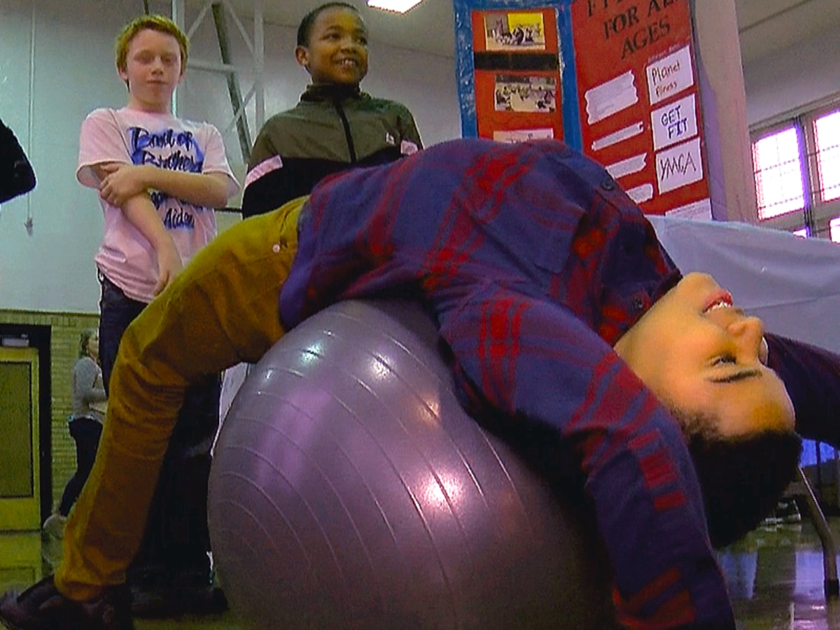 Meyzeek Middle School transforms gym for student-run health fair