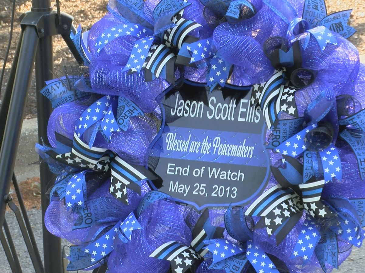Family, community honors Ofc. Jason Ellis on anniversary of his death