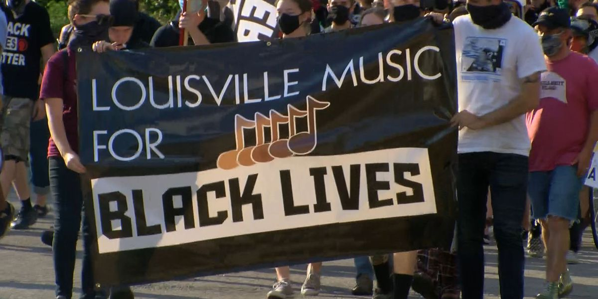 'Outta the Bars, Into the Streets': Members of Louisville's music scene march in support of Black lives