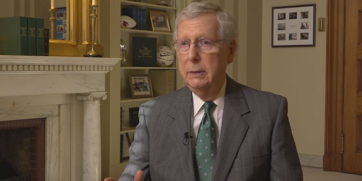 Mitch McConnell fractures shoulder in fall at home