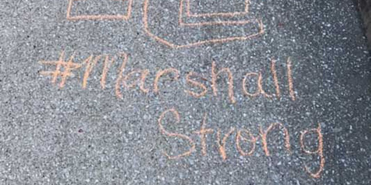 Teachers, staff support Marshall Co. students with sidewalk messages