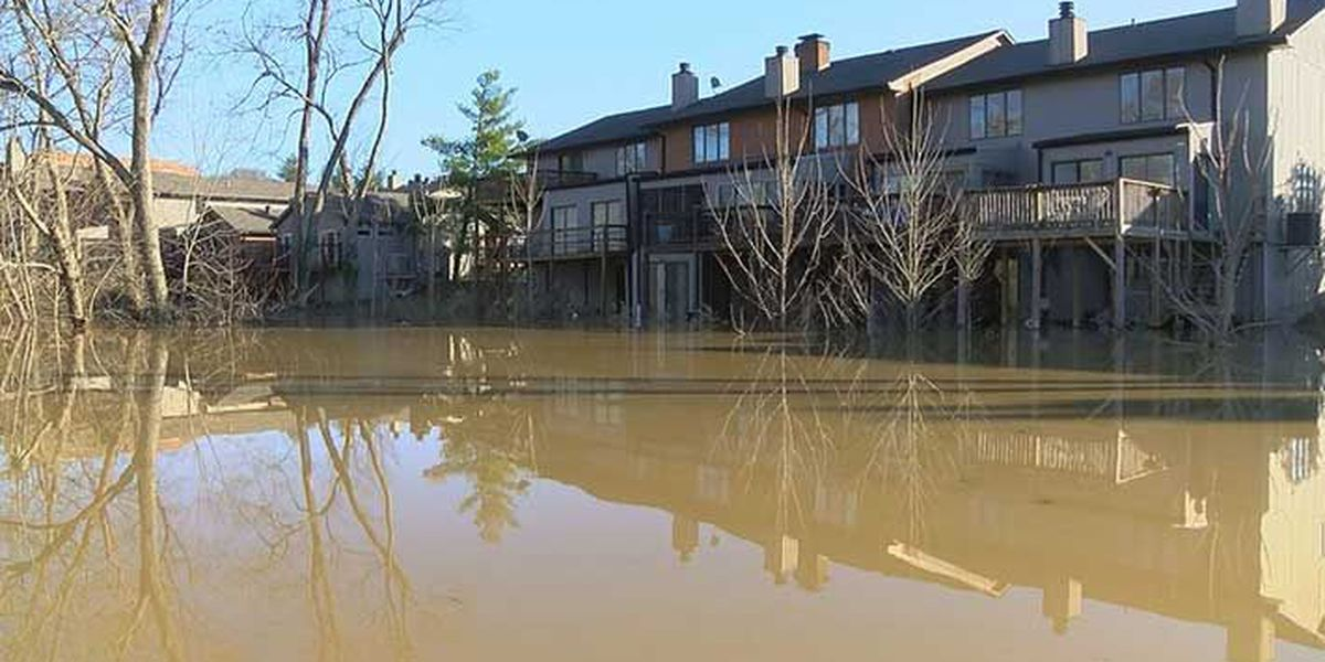 Up close look at Harrods Creek flooding by boat