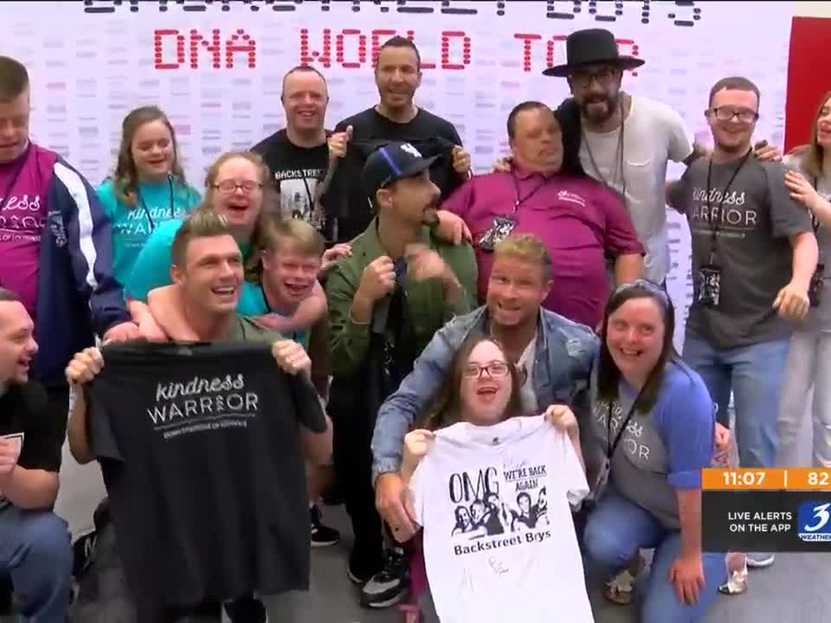 Down Syndrome of Louisville meets Backstreet Boys before concert