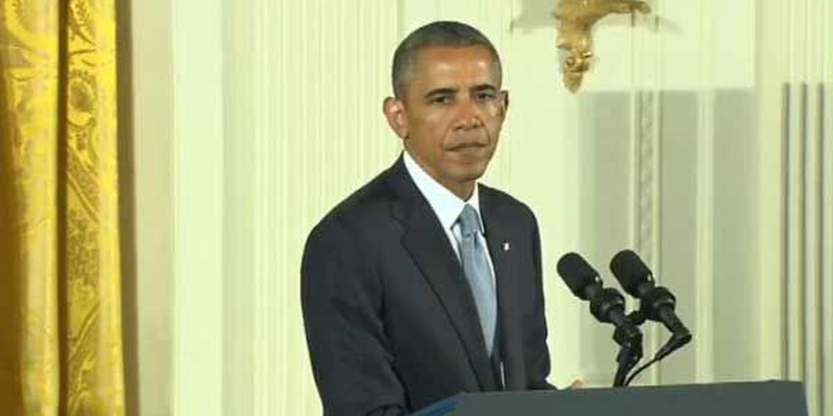 Live on WAVE3.com: Pres. Obama speaks on ISIS and Syria. Online: http://bit.ly/1dwbq7w. Mobile: http://bit.ly/LeC49o.